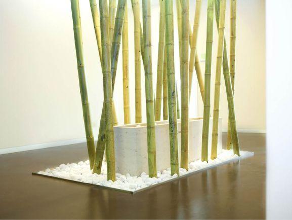 Schöne Idee mit Bambus Brunnen in Münchner Arztpraxis Interior - bambus im wohnzimmer