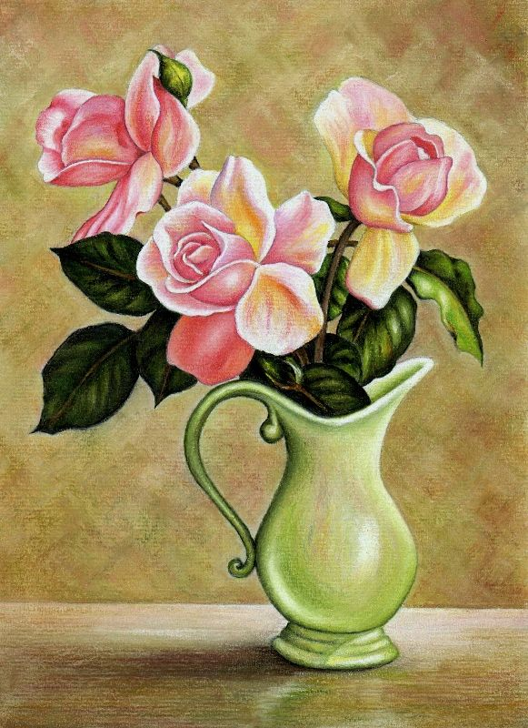 Google Da Ara Flower Art Painting Flower Drawing Flower Vase Drawing