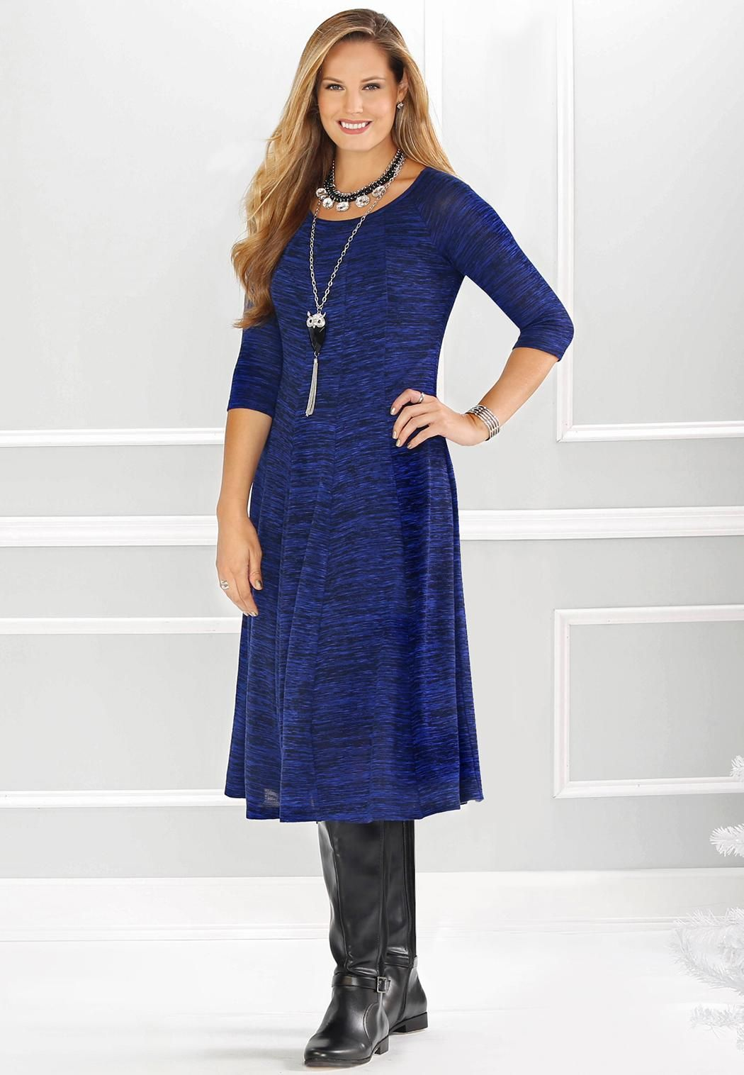 d9a402fdf65 Marled Knit Dress - Plus Dresses Cato Fashions