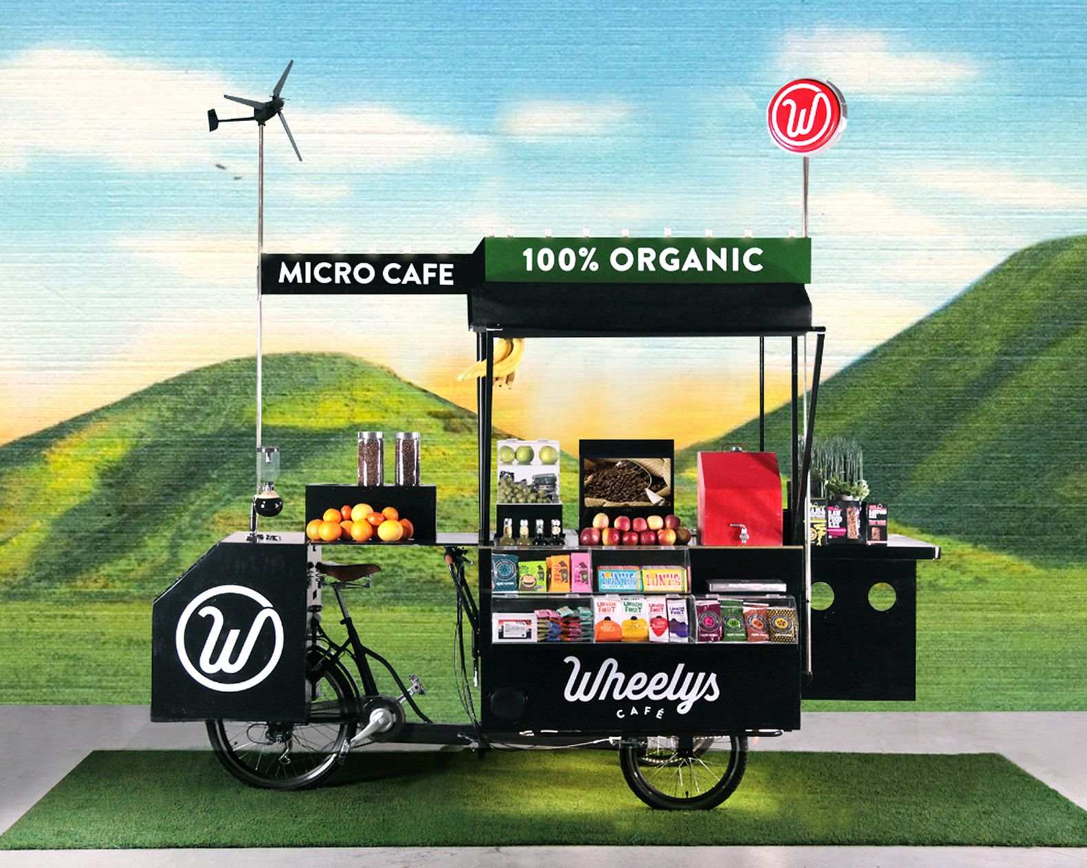 New wheelys 4 bike caf cleans smoggy air and turns coffee grounds into fertilizer
