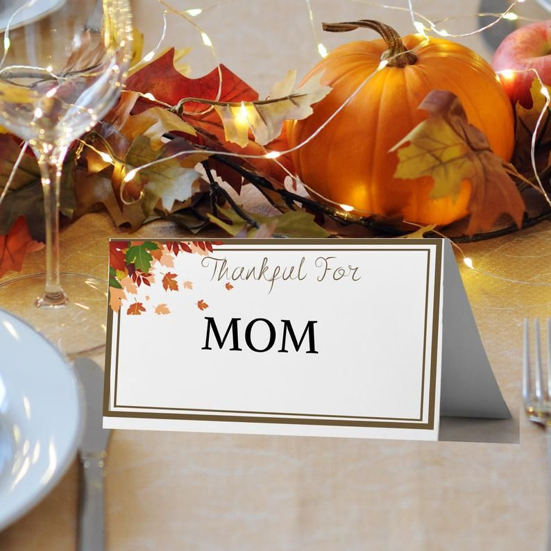 Thanksgiving Editable Table Place Card Printable Thanksgiving Dinner Place Card Templa Dinner Places Thanksgiving Table Decorations Thanksgiving Table Settings