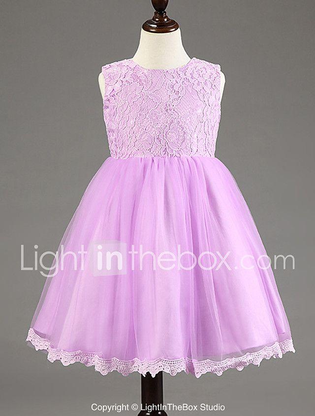 Vestido de bola vestido de la muchacha de flor de la longitud de la ...