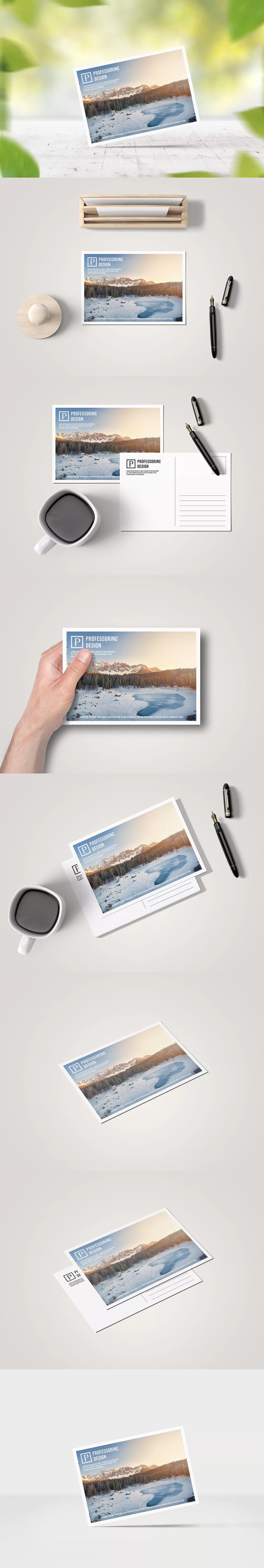 a6 postcard / greeting card mock-up | mockup templates | pinterest, Presentation templates