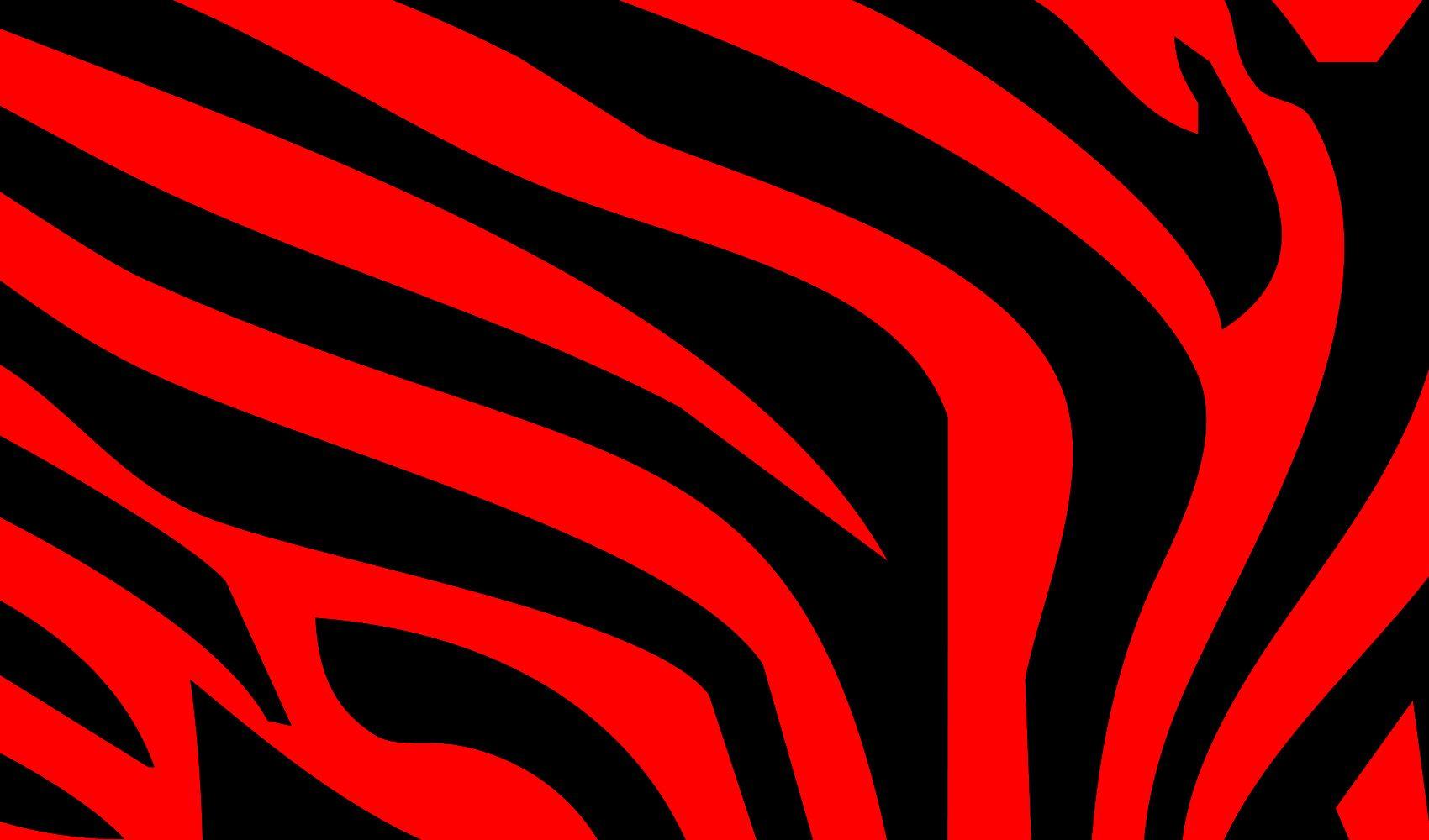 Red And Black Stripes Animal Print Wallpaper Zebra Print