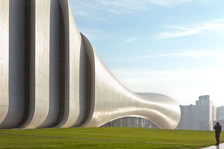 The Heydar Aliyev Center By Zaha Hadid Architects In Baku Azerbaijan Yatzer Zaha Hadid Architects Zaha Hadid Design Zaha Hadid Architecture