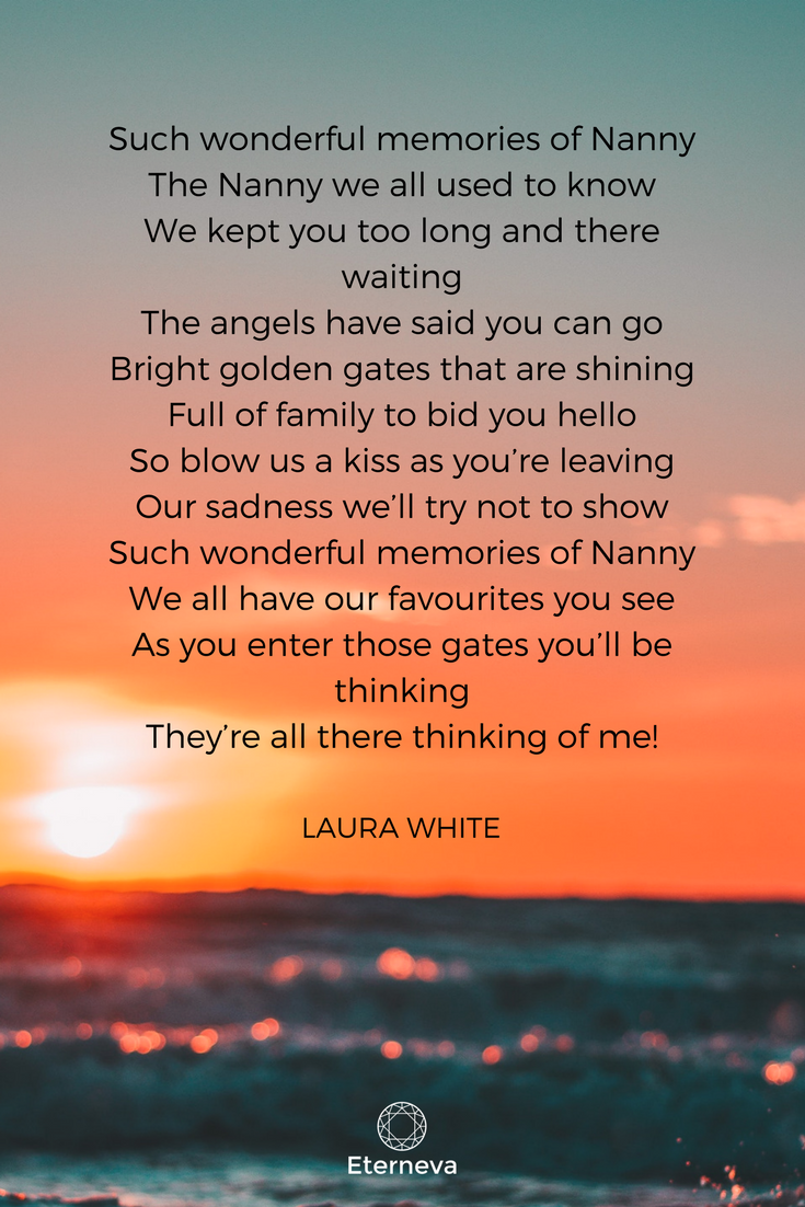 Funeral poem / funeral speech for a grandma / grandpa ...
