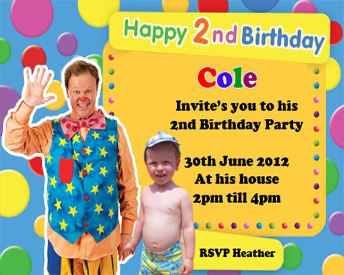10 X Mr Tumble Personalised Birthday Invitations Mr Tumble Birthday Party Personalized Birthday Invitations Personalized Birthday