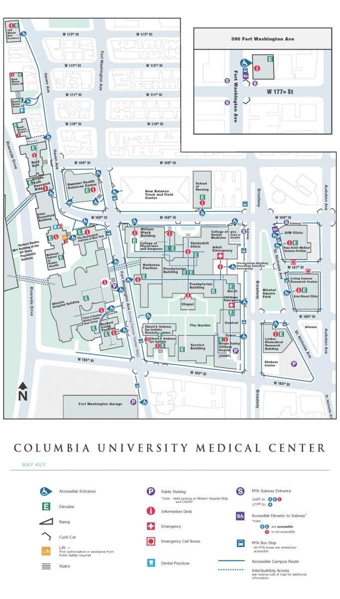 Columbia University Medical Center Newyork Presbyterian Map