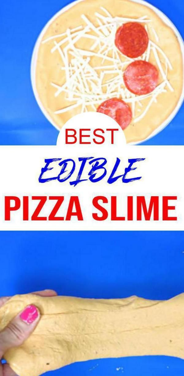 DIY Edible Pizza Slime #edibleslime FALL CRAFTS! Easy & fun DIY edible slime with this homemade pizza slime with cheese, pepperoni & pizza sauce. The coolest edible slime recipe kids, teens & tweens love. Learn how to make slime for a fun Fall craft project. Make for party activities for birthdays, classroom parties & more. Youtube slime video tutorial. This is a great birthday theme slime, Thanksgiving & Christmas slime! Try this amazing edible pizza fluffy slime today #kidsactivites #slime #ed #edibleslime