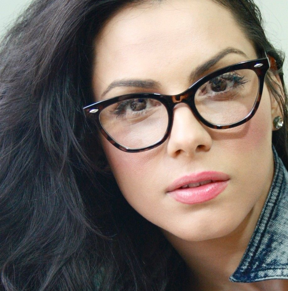 vintage retro style tortoise frame clear lens women cat eye eyeglasses eyewear fashiondeals