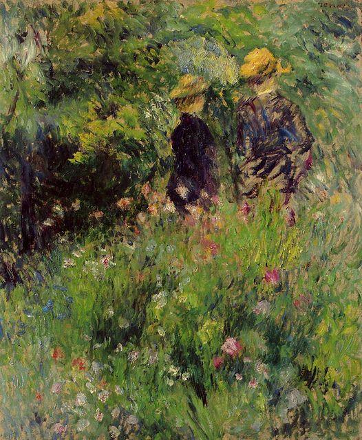 Conversation in a Rose Garden, 1876.  Renoir