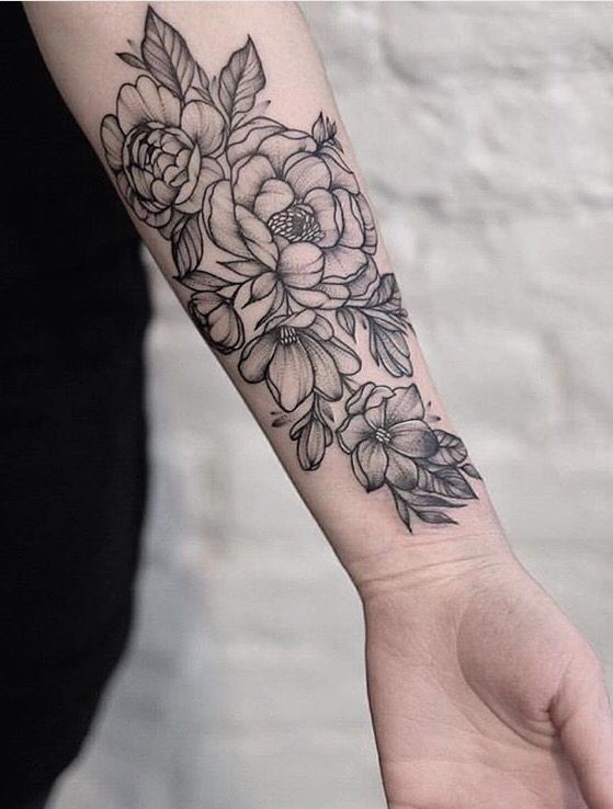 Flower Tattoo Idea Forearm Tattoo Women Floral Arm Tattoo Tattoos