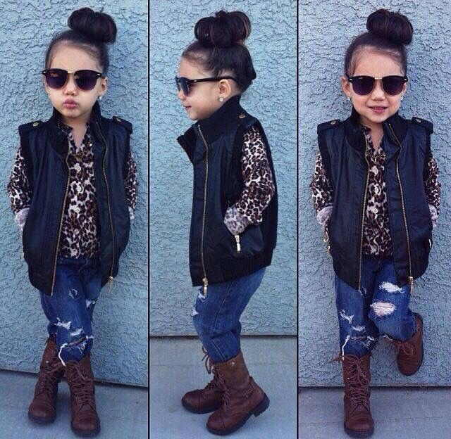 Cute casual leopard print style for girls