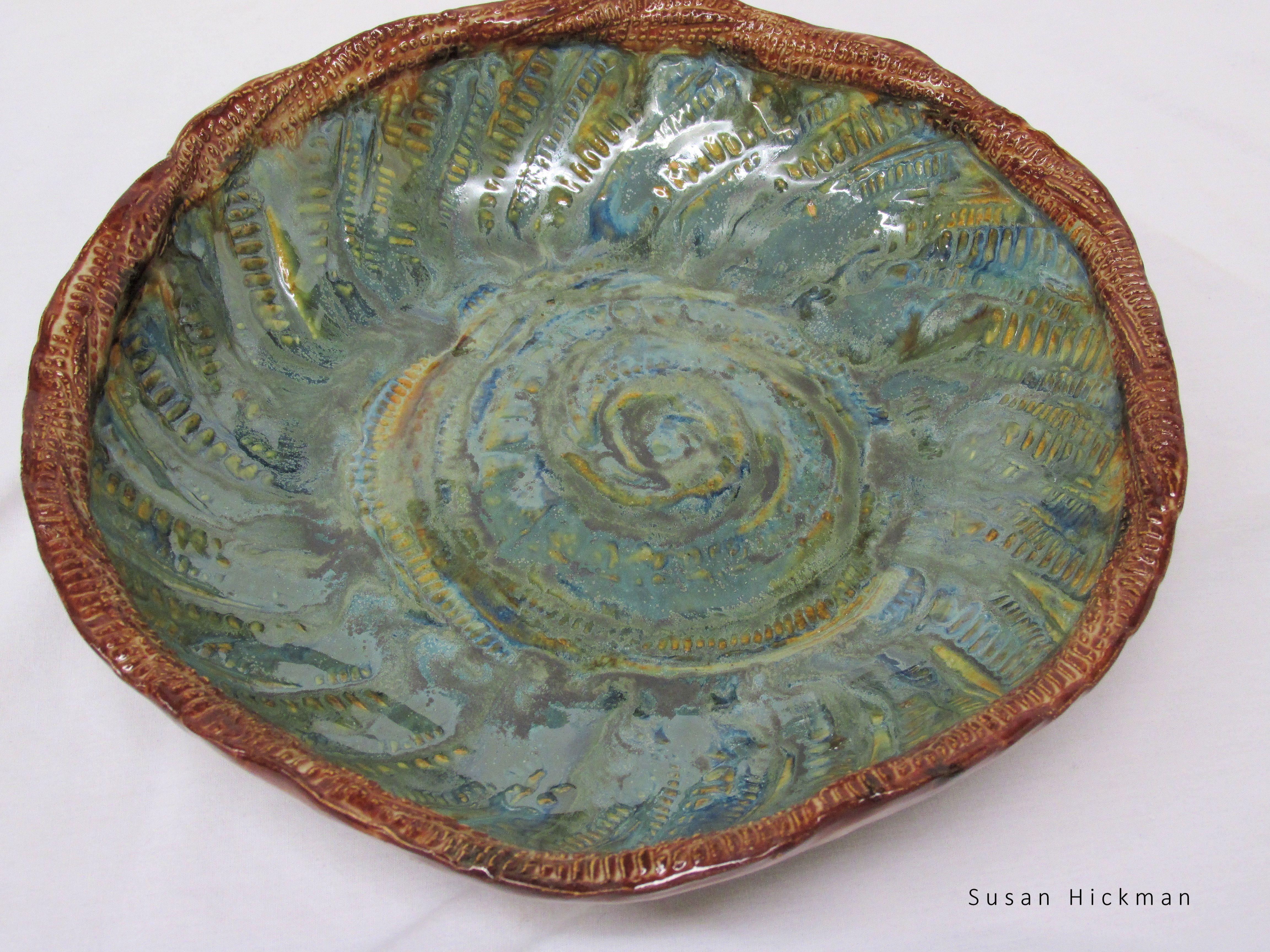 hand built shallow bowl