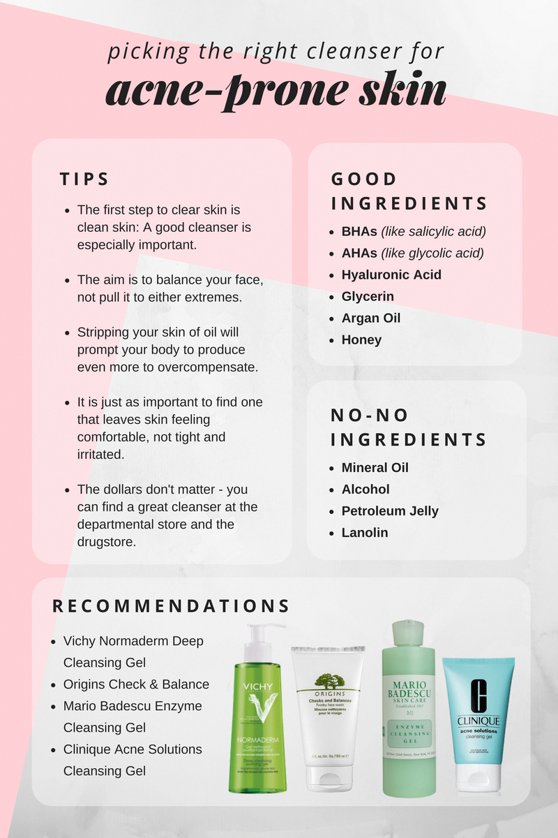 How To Choose The Best Cleanser For Acne Prone Skin Thebeautyaddict Skincaretips Best Acne Cleanser All Natural Skin Care Skin Care Acne