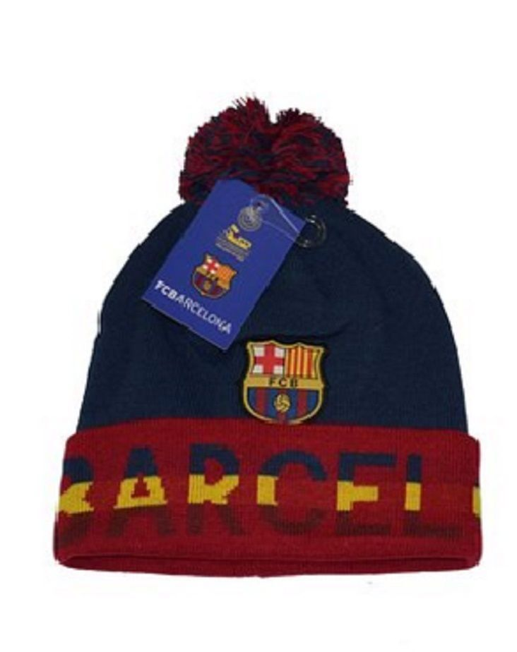 d4a824adb17 NEW SEASON FC BARCELONA BEANIE W  POM OFFICIAL WINTER SKULL CAP AUTHENTIC   rhinox  FCBarcelona