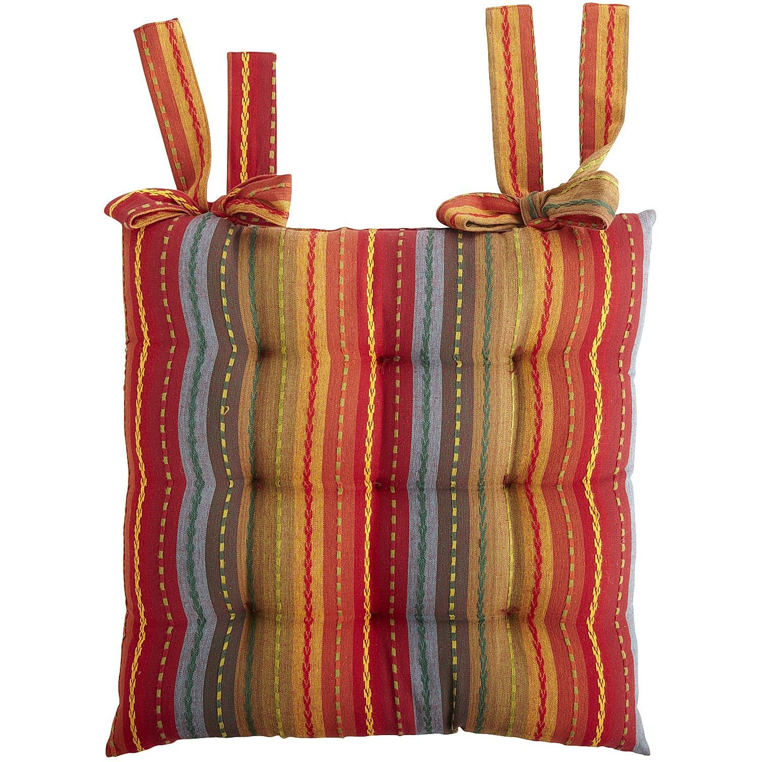 Festive striped dining chair cushion dining chair cushions and