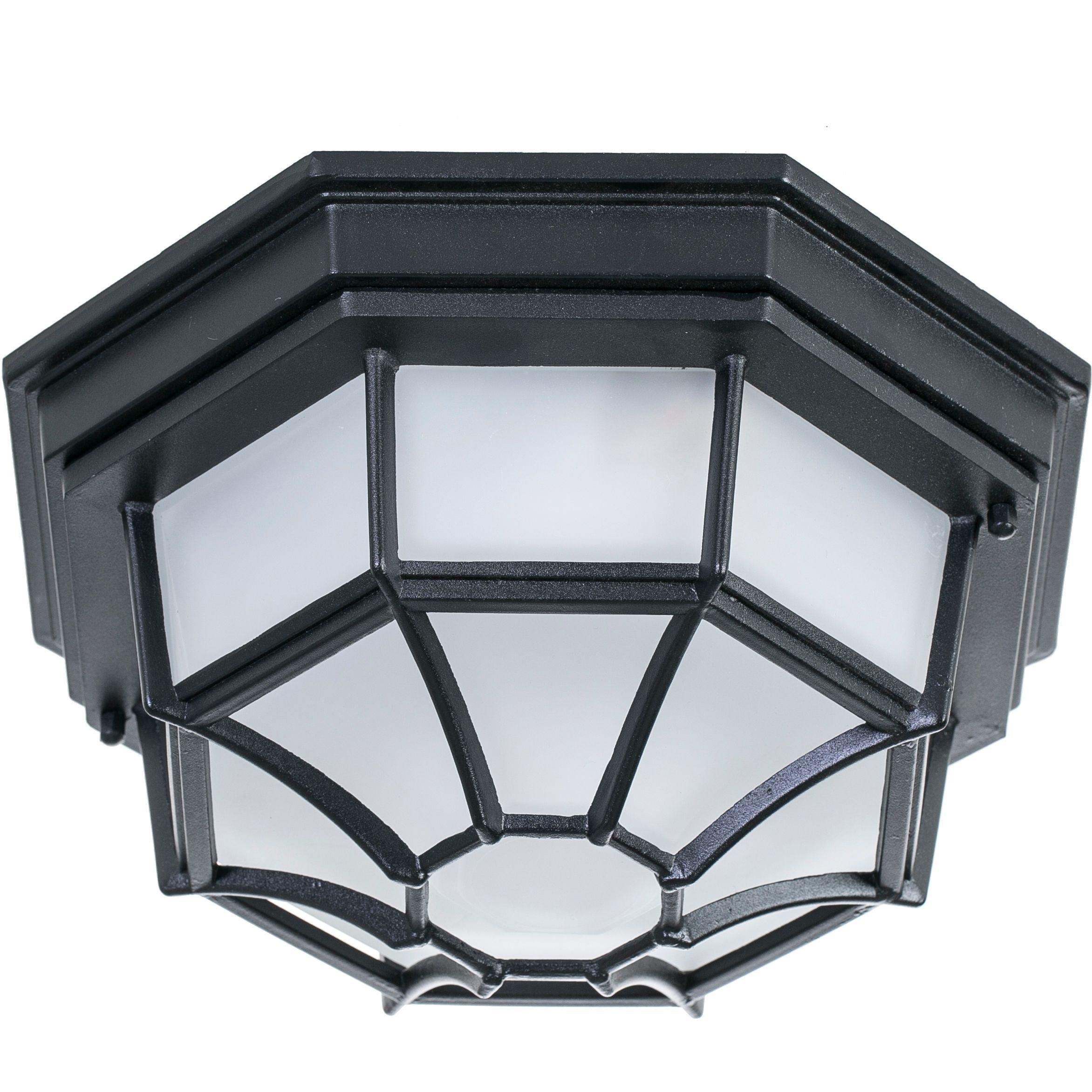 Livex Lighting Cast Aluminum Indoor/Outdoor 2-Light Ceiling Mount ...