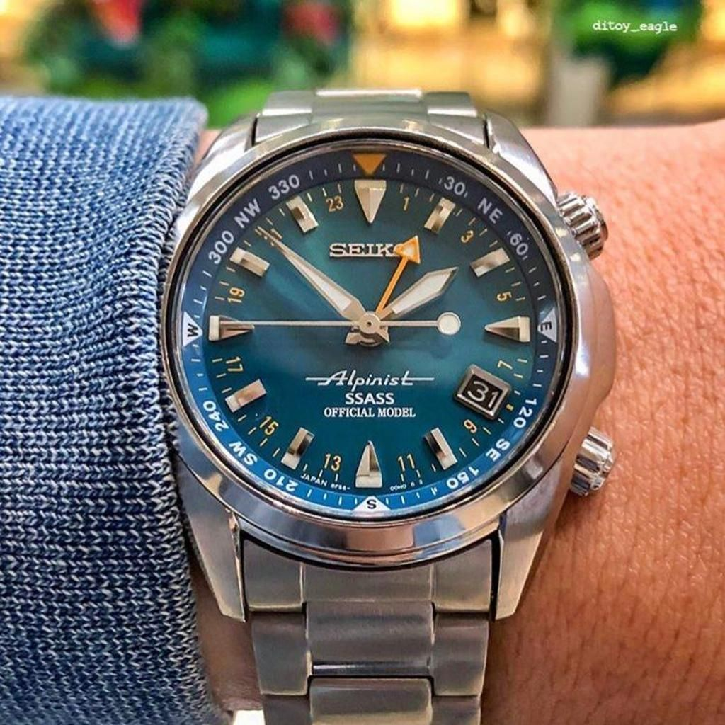 Very very rare Seiko Alpinist Limited Edition teal SSASS - SBCJ023 Only 500  made, released 2003 Pic credit … | Seiko alpinist, Watches for men, Best  watches for men
