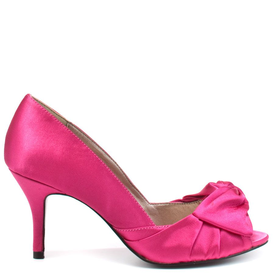 Best One Yet heels Fuchsia Satin brand heels Luichiny