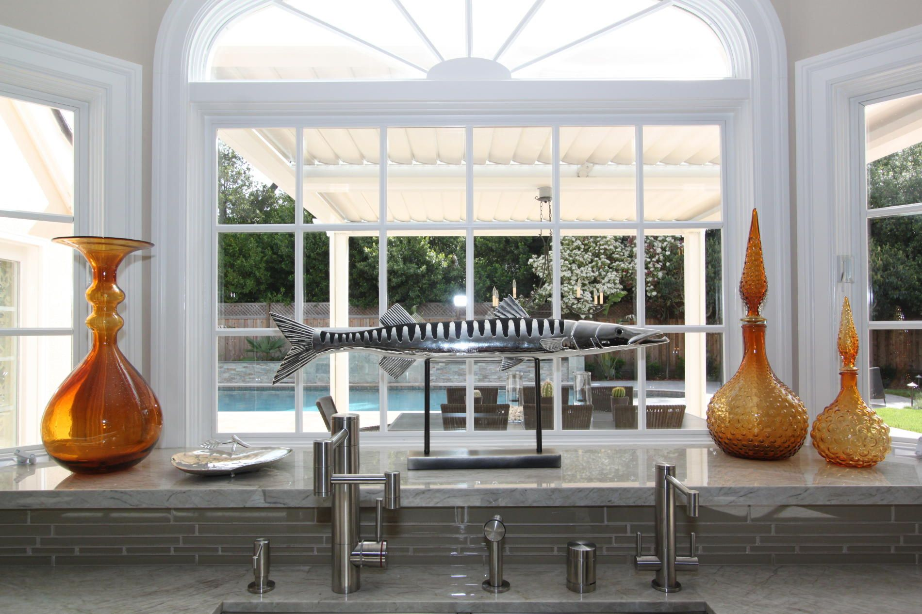 bay cushioned of lovable sink stool metal window over kitchen bar beige