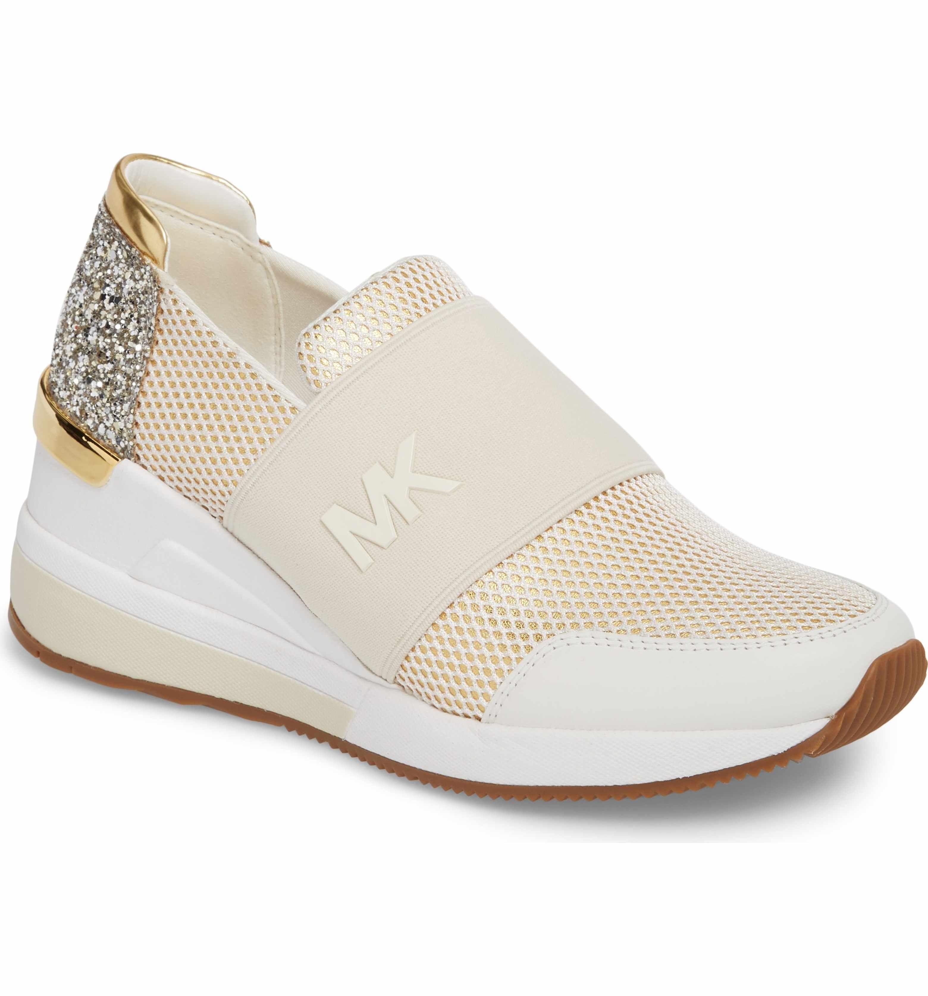 ba3c2a3b4c Main Image - MICHAEL Michael Kors Felix Slip-On Glitter Sneaker (Women)