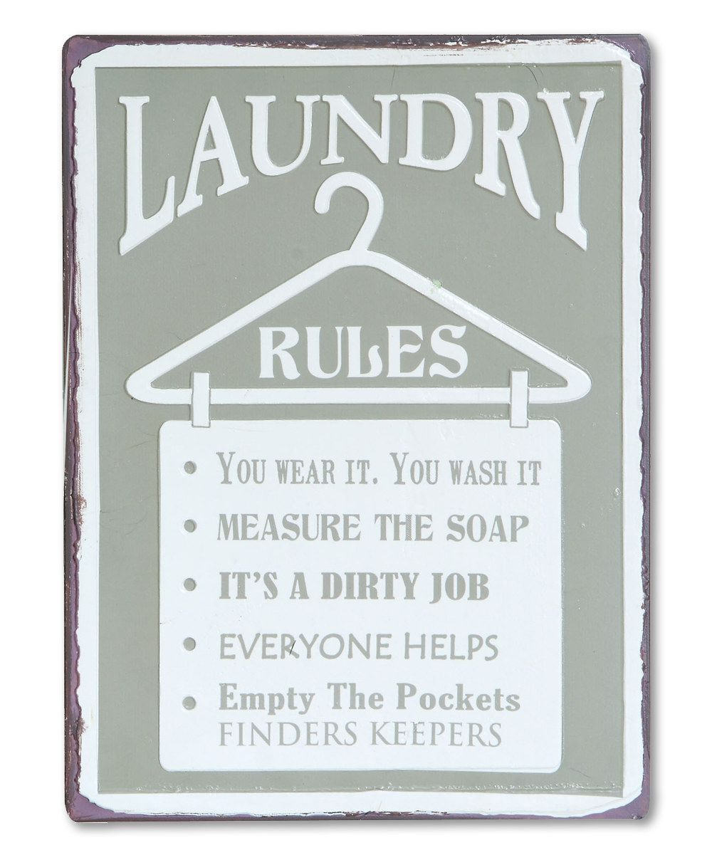 Laundry Wall Plaque Look At This 'laundry Rules' Wall Plaque On Zulily Today