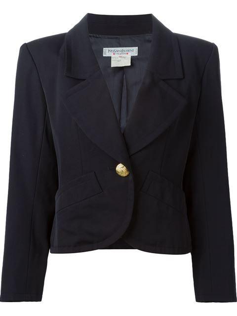 """Comprar Yves Saint Laurent Vintage blazer """"Rive Gauche"""" en House of Liza from the world's best independent boutiques at farfetch.com. Descubre 400 boutiques en 1 sola dirección."""