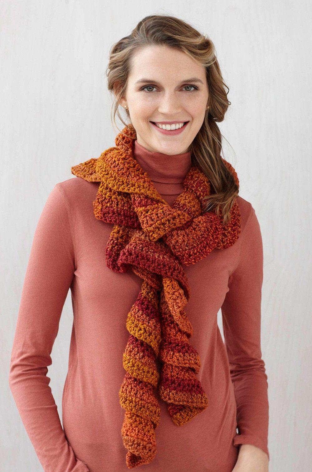 Exelent Ruffle Crochet Scarf Pattern Crest - Blanket Knitting ...