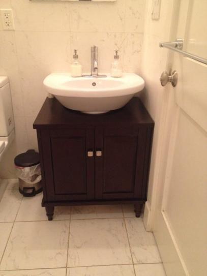 Sinkwrap 25 In W X 20 In D Vanity Cabinet Only For Pedestal