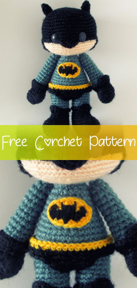 Batman Amigurumi [CROCHET FREE PATTERNS