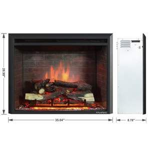 Puraflame 33 Inch Western Electric Fireplace Insert With Remote