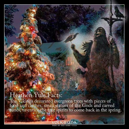 Heathen Yule Evergreen Tree