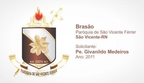 Brasão da Paróquia de São Vicente Férrer - São Vicente-RN