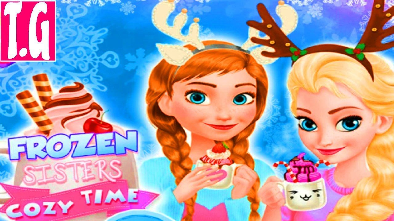 Dress up frozen game - Frozen Sisters Cozy Time Disney Princess Elsa And Anna Dress Up Game For