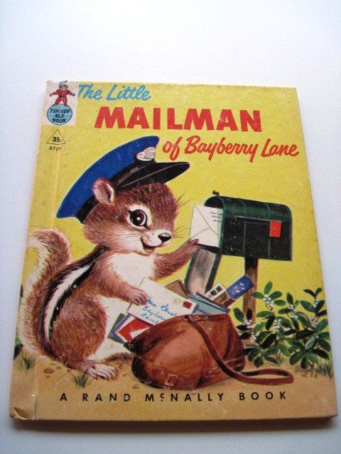 The Little Mailman Of Bayberry Lane 1952 Vintage Tip Top Elf Book Books Mailman Going Postal