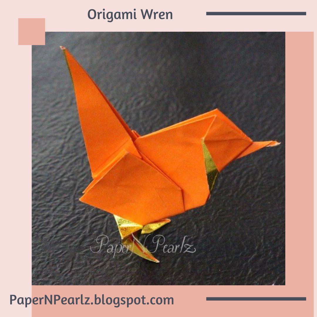 Roman Diaz's #origami #wren from the book Origami Essence.   #origamipaper #paperfolding #origamilove #papernpearlz #origamiart #origamiindia #craft