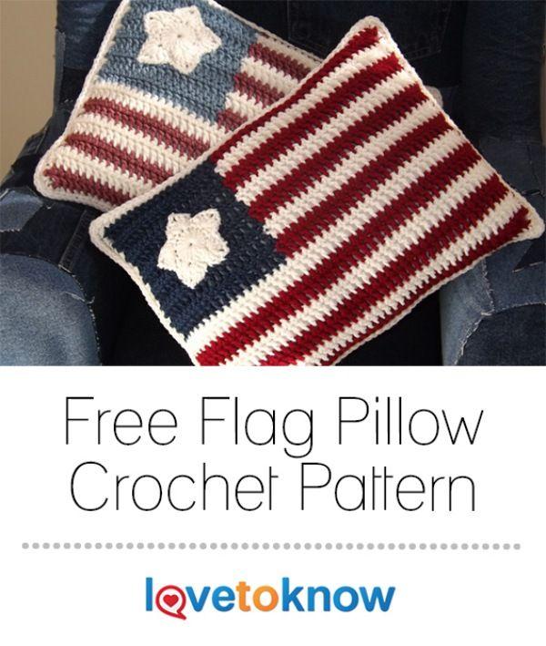 Free Crochet Flag Pillow Pattern