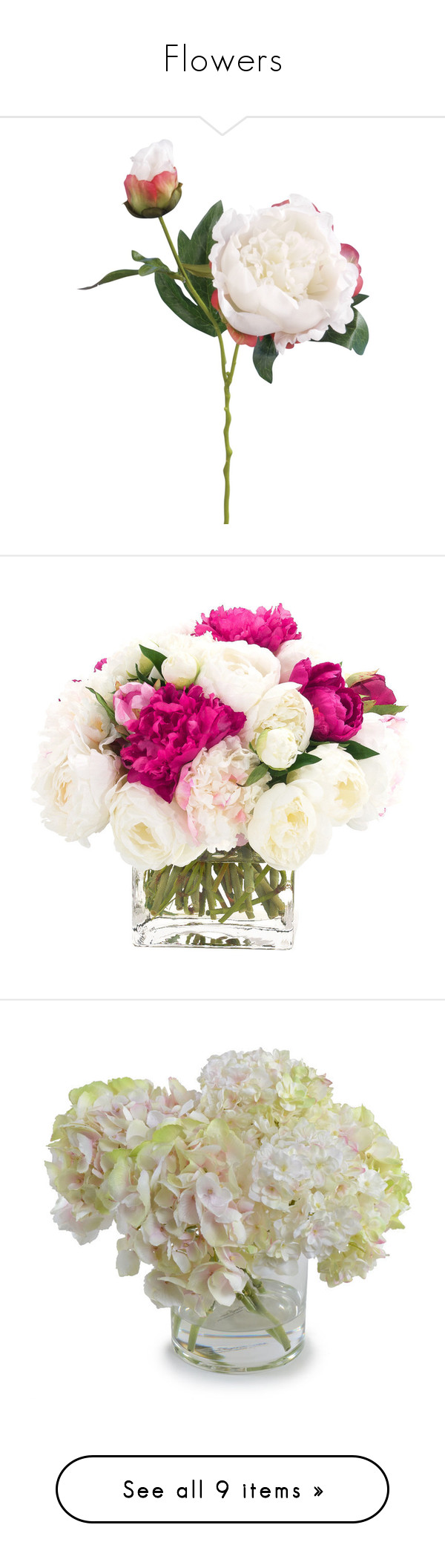 Flowers by arina bianca liked on polyvore featuring home home flowers by arina bianca liked on polyvore featuring home home decor floral decor peony artificial flowers john lewis white home decor fake peony mightylinksfo