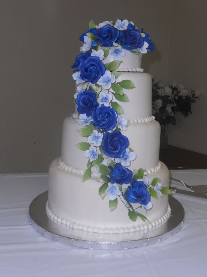 Beautiful+blue+cake | Blue Rose Ice Cream Cake My First Ice Cream Wedding