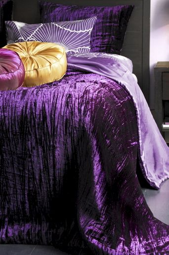 Purple Crushed Velvet Bedspread Purple Bedspread