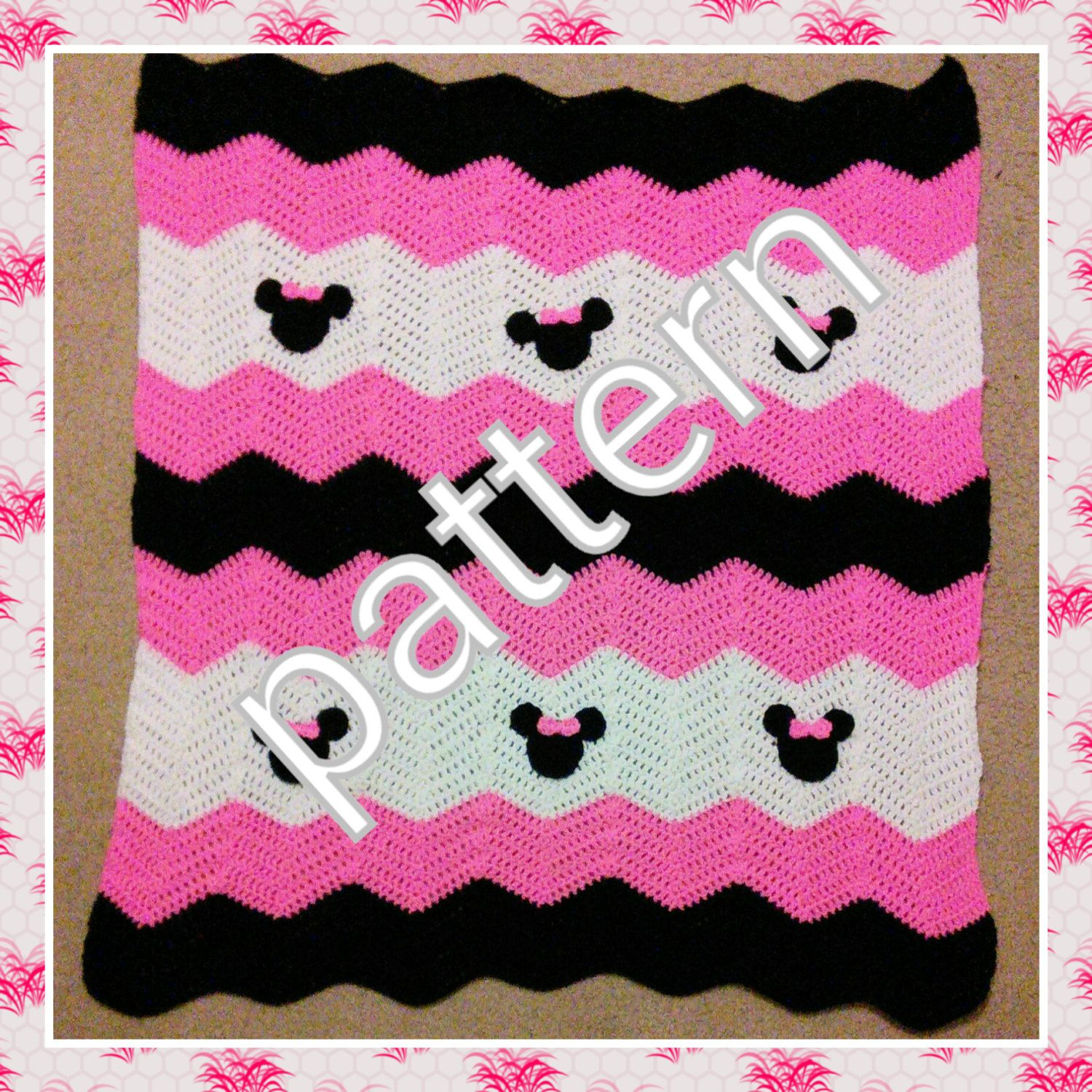 Minnie Mickey Mouse Crochet Pattern. Minnie Mouse baby blanket pattern