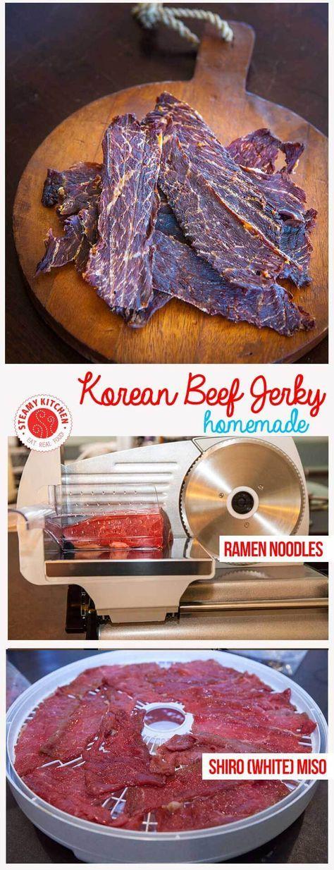 Korean Beef Jerky • Steamy Kitchen Recipes Giveaways
