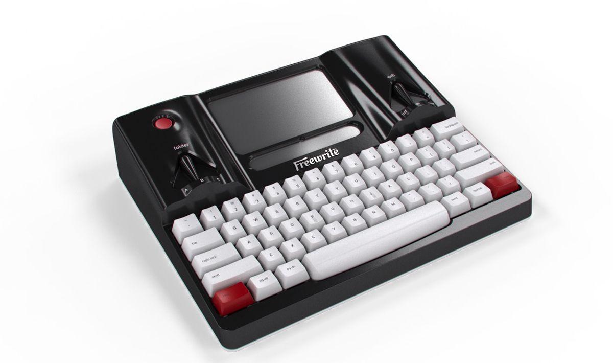 """Freewrite (via Wired) """"Comoda e leggera, serve solo per scrivere e salva direttamente in cloud"""""""