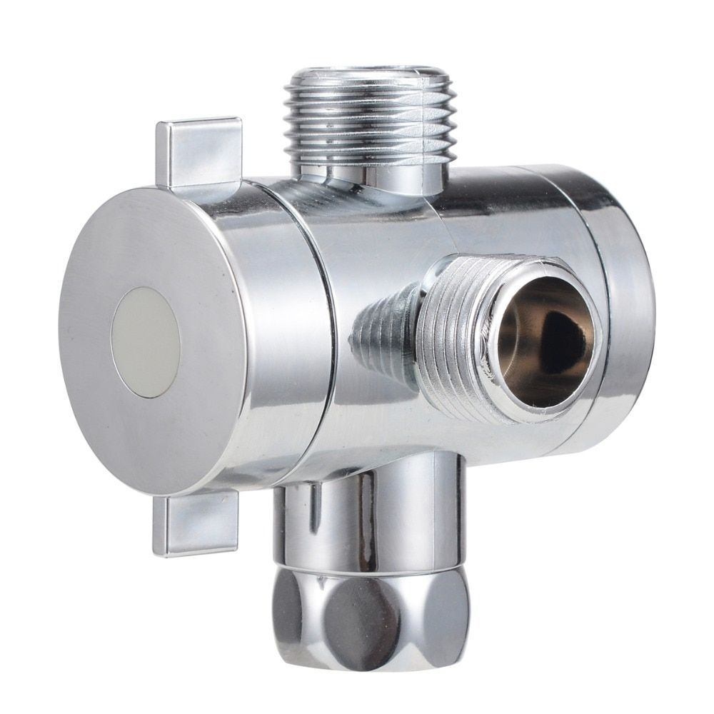 Arm Mounted Adjustable Shower Head Diverter Valve Bathroom Hardware Accessory f