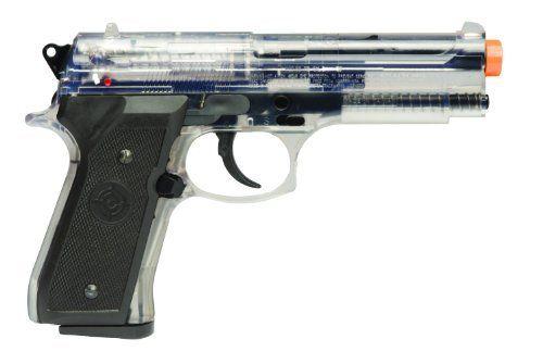 Crosman Stinger ASP30TC Airsoft Pistol (Clear/Black) by