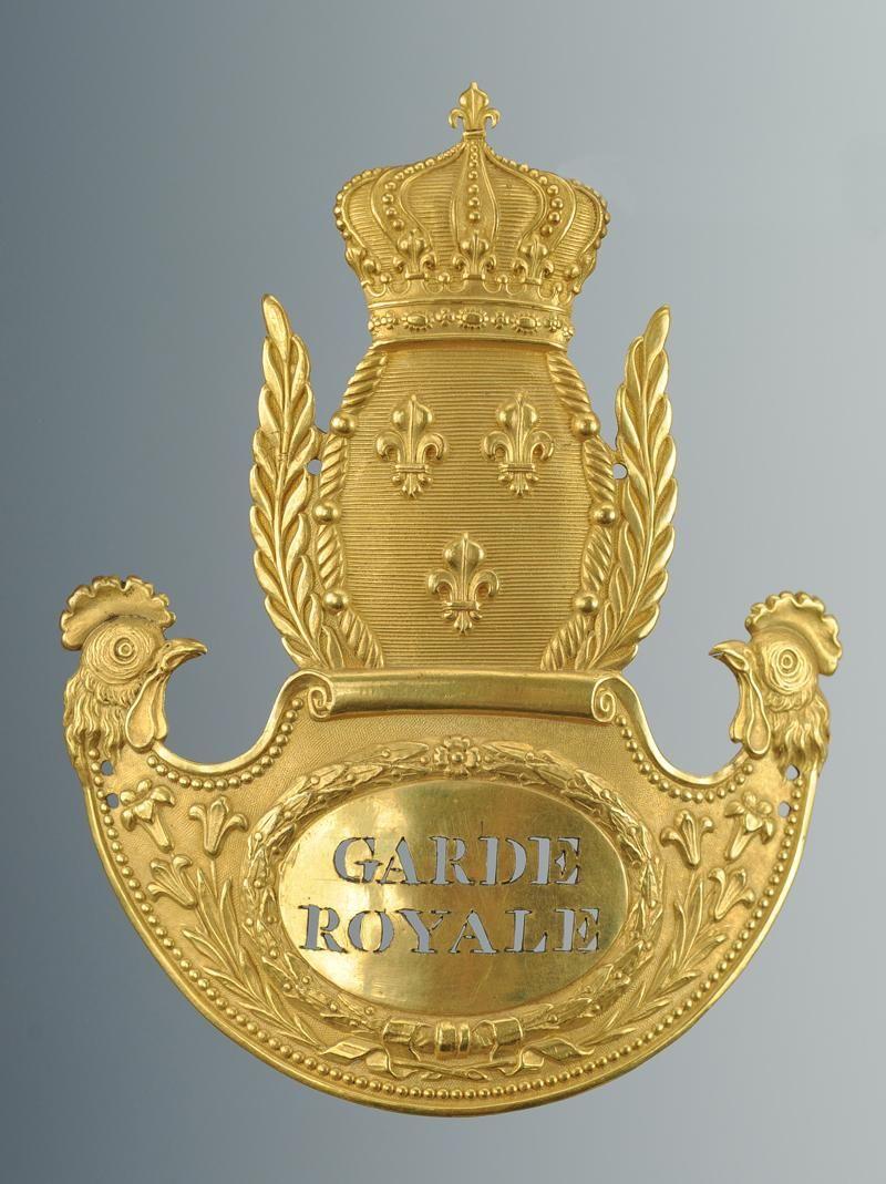 Le Pompon Sur La Garonne Origine : pompon, garonne, origine, PLAQUE, SHAKO, D'OFFICIER, D'INFANTERIE, GARDE, ROYALE, 1815-1816,, RESTAURATION., Badge,, History,, Novelty, Christmas