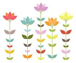 Adesivo in pellicola vinilica Minimal Flowers 40x33 cm