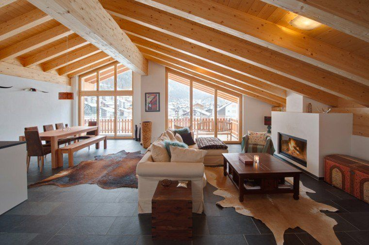 D coration int rieur chalet montagne 50 id es inspirantes this is home d coration - Interieur maison design contemporain ...