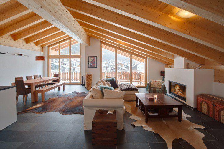 intérieur de maison et déco de style chalet montagne